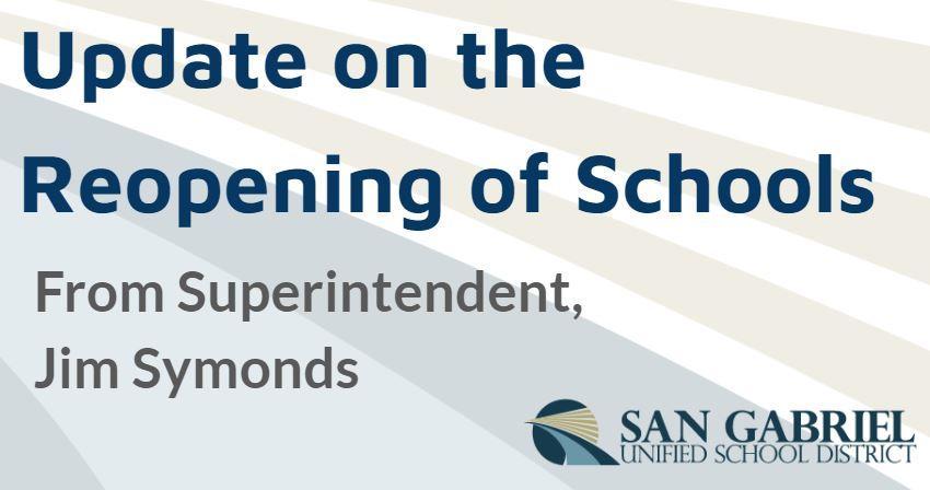 Safe Start Sgusd Reopening Of Schools Plan