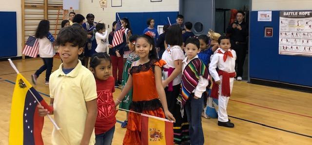 Our students represented different countries for our Multicultural Event!