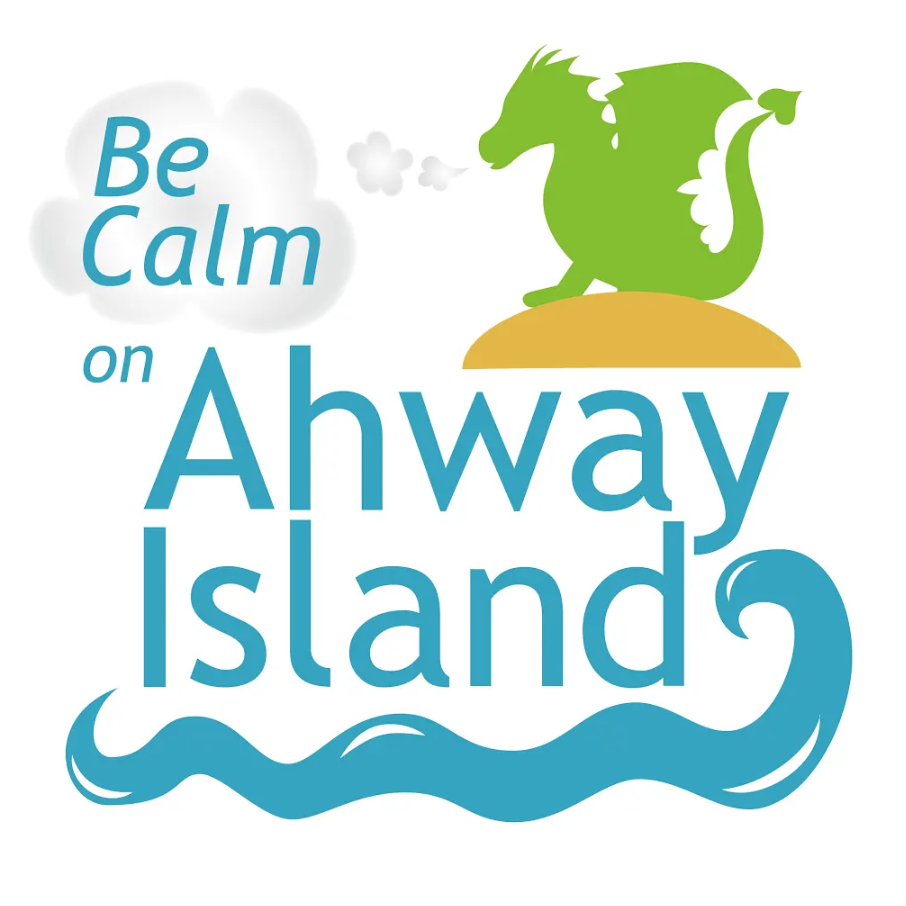 Logo: Be Calm on Ahway Island