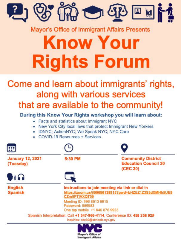 ENG - Know Your Rights Forum