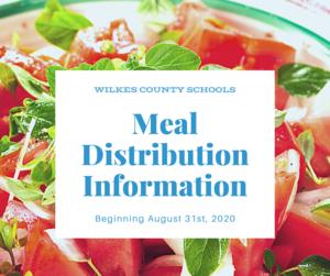 meal distribution updates
