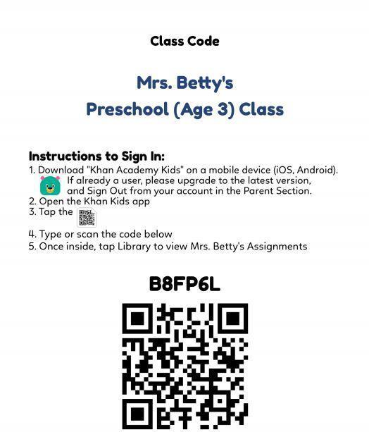 Khan Kids Class Code