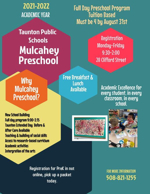 Mulcahey Pre-School Flyer Featured Photo