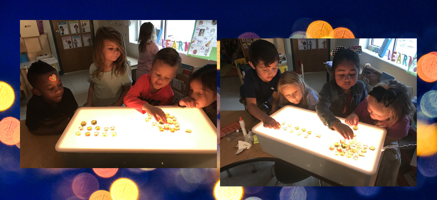 kindergarten students light up with knowledge of numbers