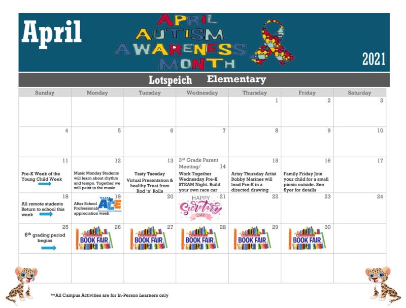 Lotspeich April Calendar Featured Photo