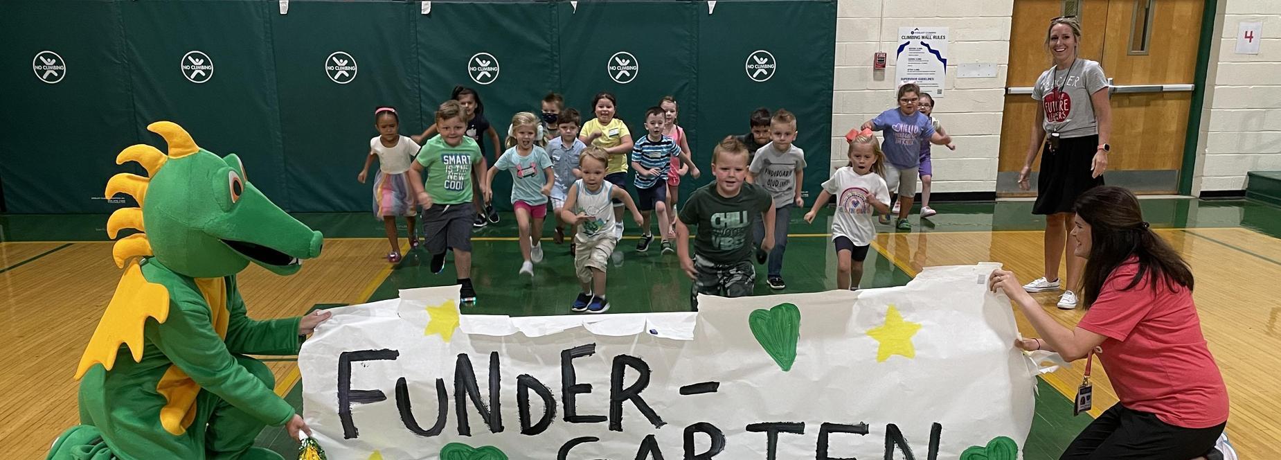 kindergarten pep rally