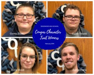 Character Trait winners