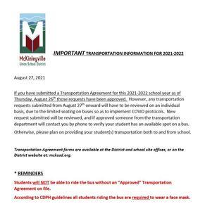 MUSD Transportation Memo