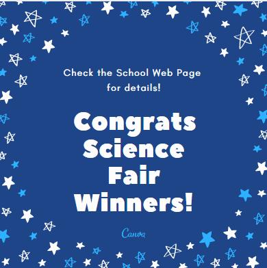 Science Fair Winners Announced! Thumbnail Image