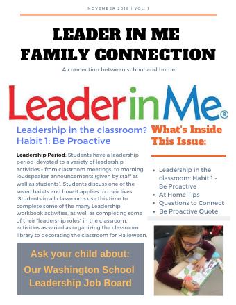 Leader in Me Newsletter