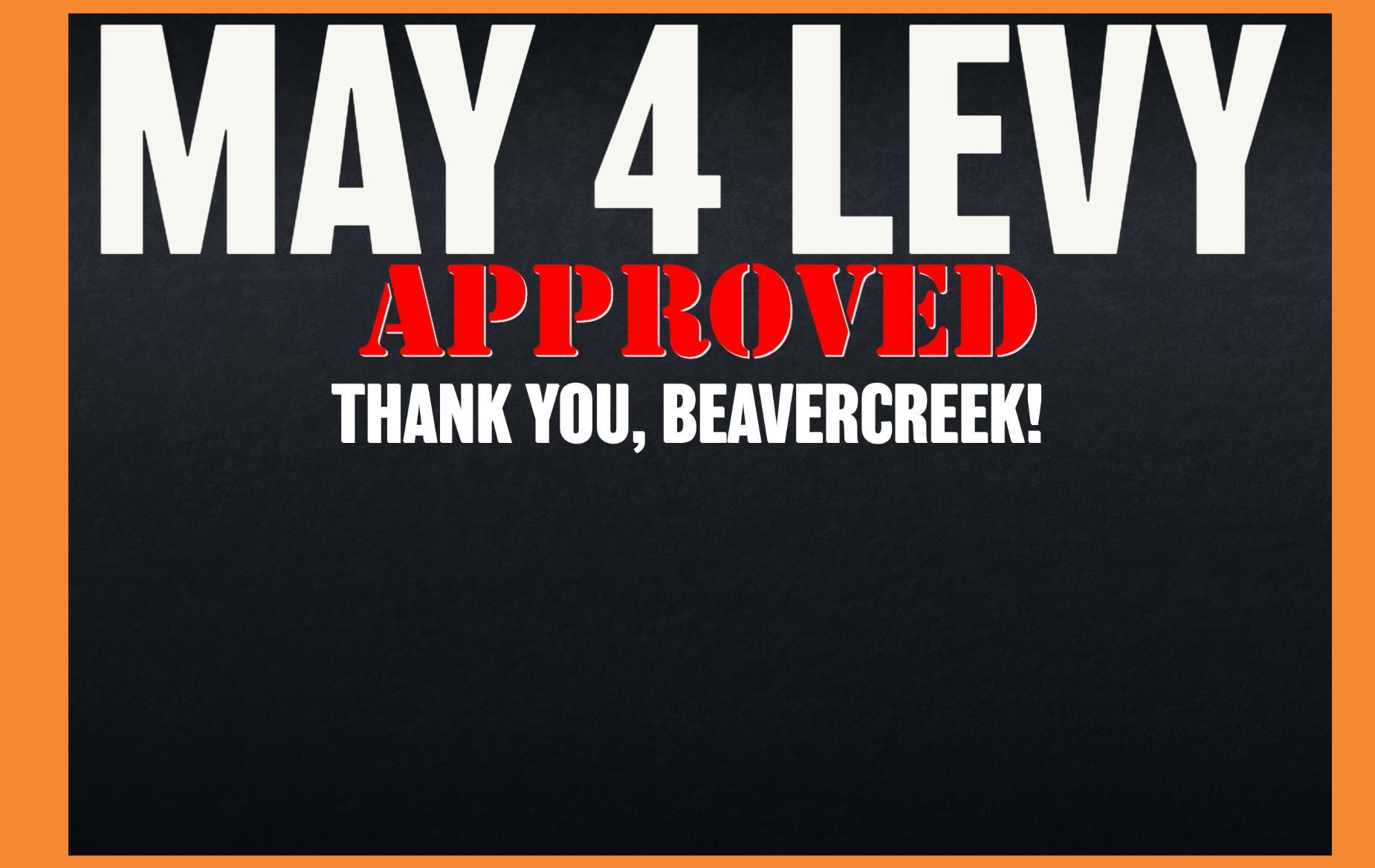 May 4 Levy Approved