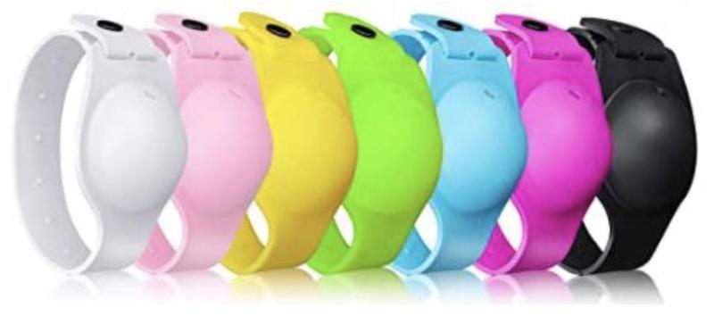 multicolored wristbands
