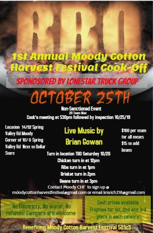 bbq cook off information poster