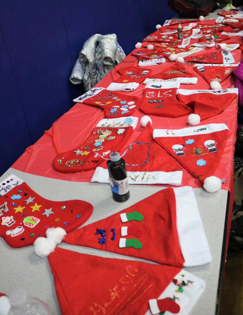 Photo of holiday crafts made during McKinley afterschool Handmade Holiday  to create handmade crafts and gifts.