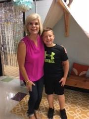 Mrs. White and student Davis Armstrong