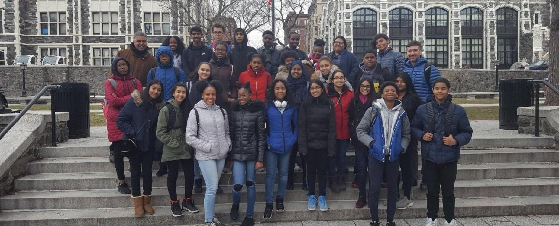 college trip to Cornell University