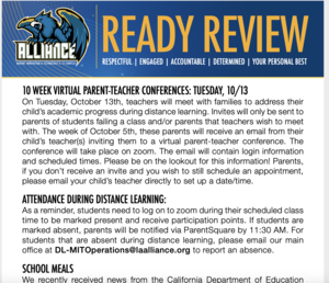 READY Review:  September 28 - October 2, 2020 Thumbnail Image