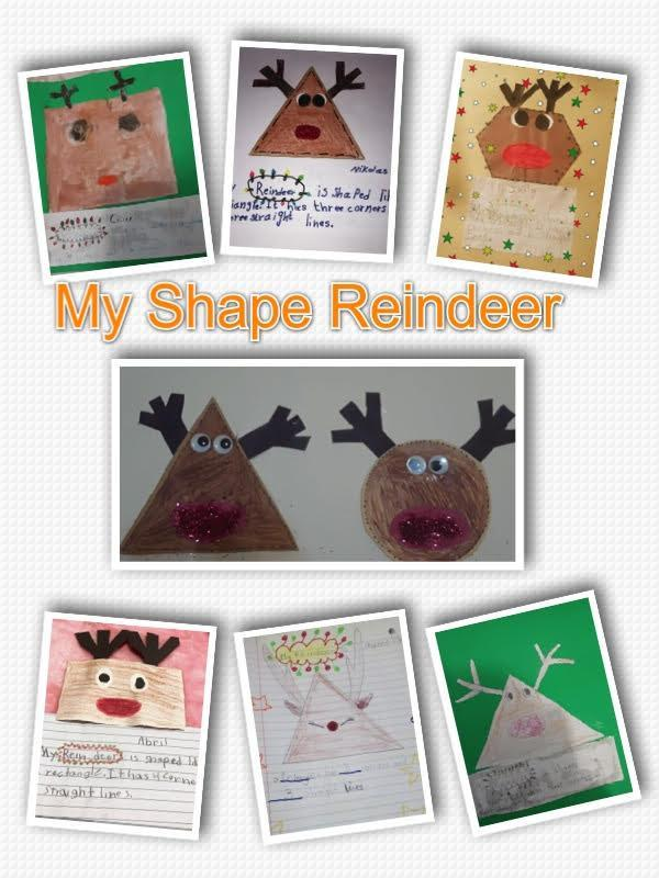 My shape reindeer collage