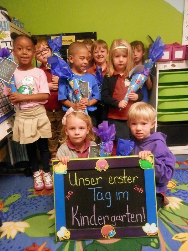 kinder kids in german class