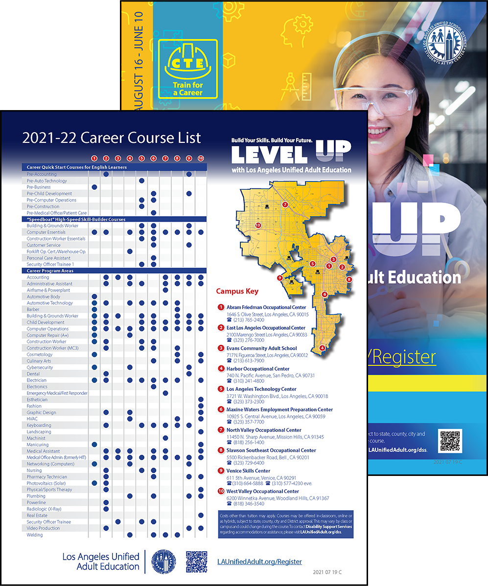Career Technical Education Flyer - Program Area - Cover 05