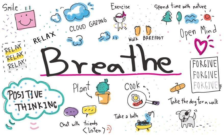 """""""breathe"""" graphic"""