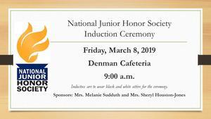 Denman Junior High School hosts National Junior Honor Society Induction Ceremony 2019