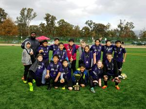 Little Heroes Soccer Team Champions
