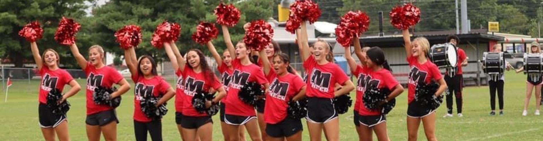 MHS Cheerleaders getting ready for the big game! Battle of the Birds!