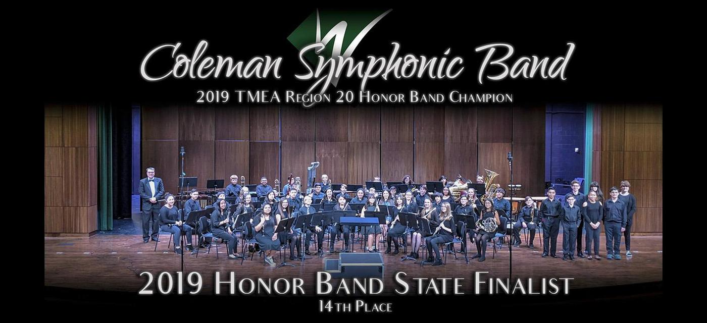 Coleman Honor Band 14th in State