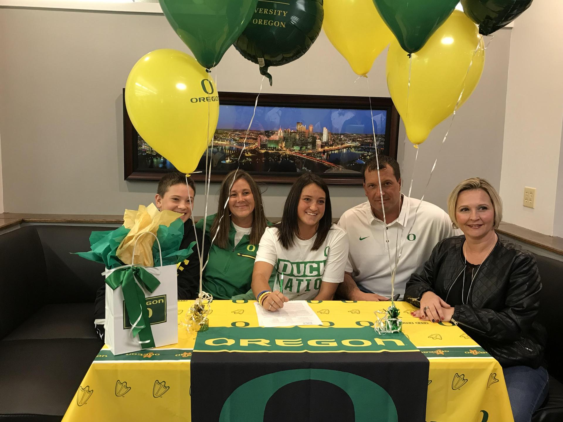 Class of 2018 senior signs letter of intent to play Division I softball at the University of Oregon