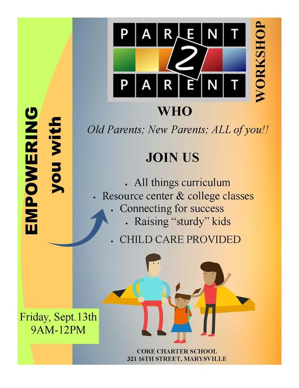 Parent to Parent Flyer