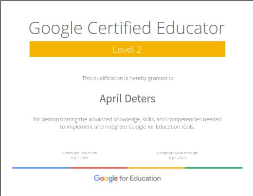 Level 2 Google Certified Educator