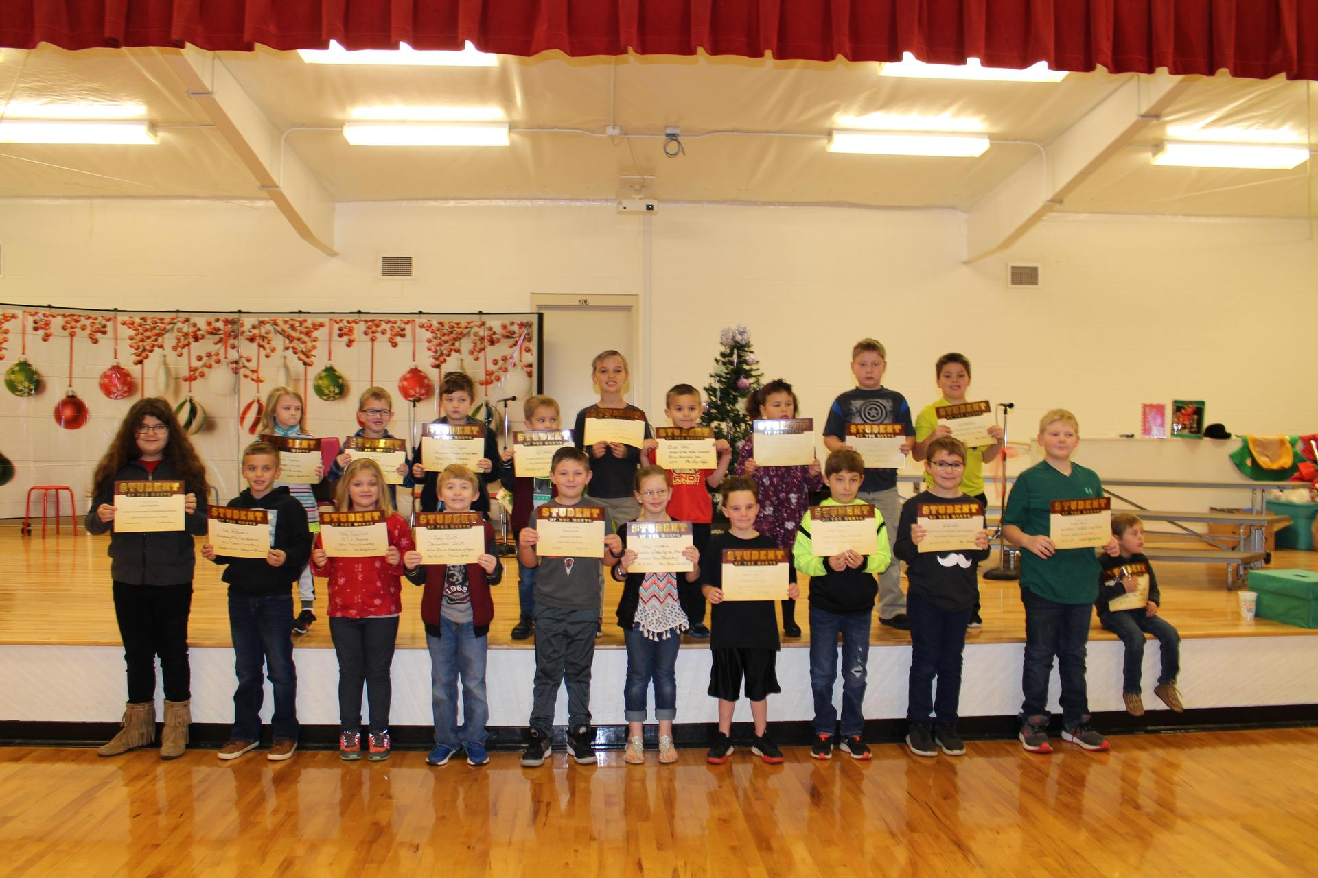 December 2019 Student of the Month picture