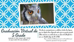 Spanish flyer for 5th grade graduation