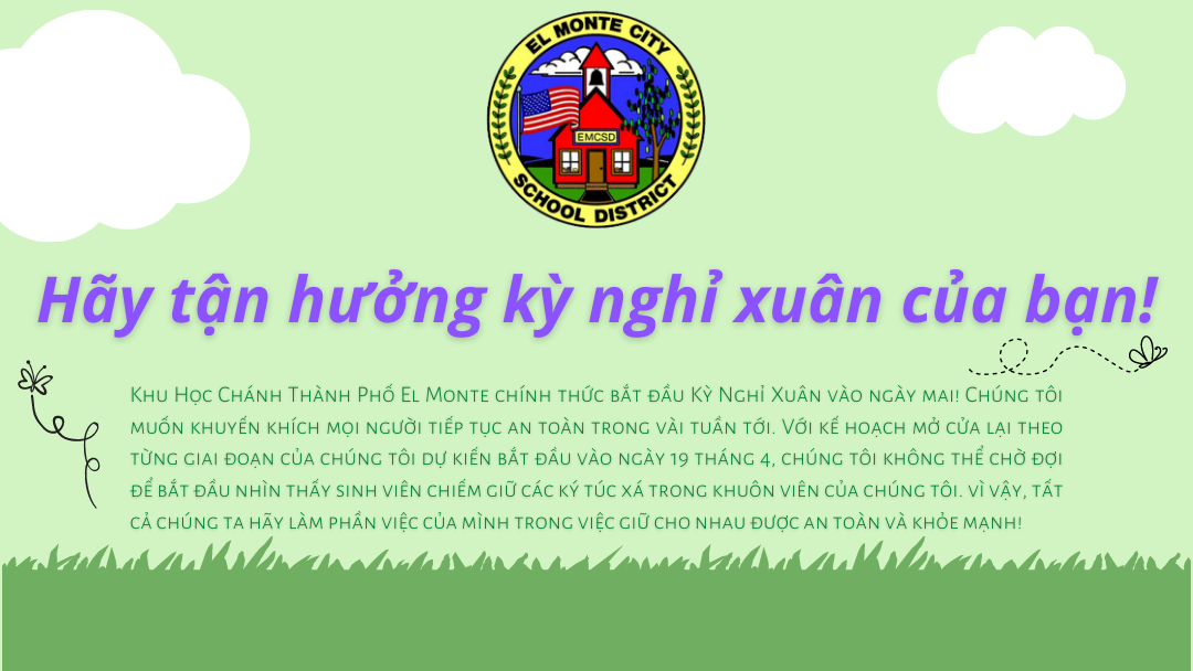Enjoy Your Spring Break Graphic VIETNAMESE