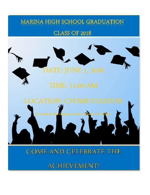 MARINA HIGH SCHOOL GRADUATION COMMENCEMENT 2018