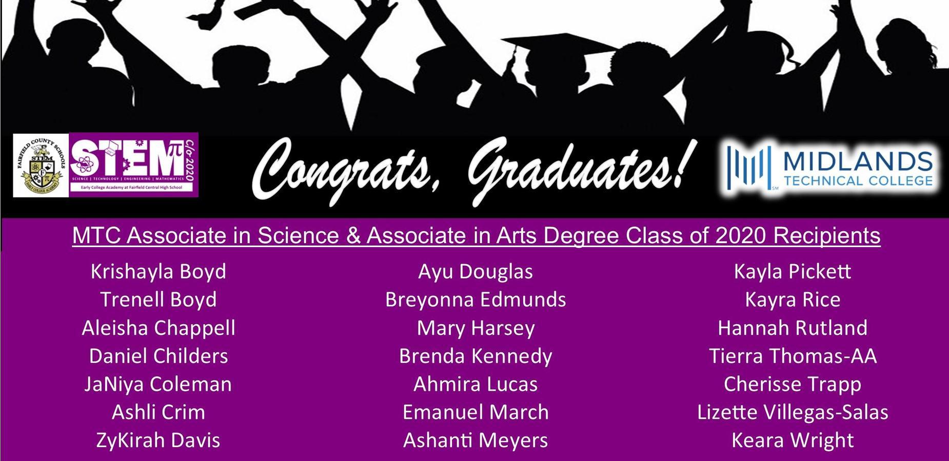 2020 STEAM ECA Grads