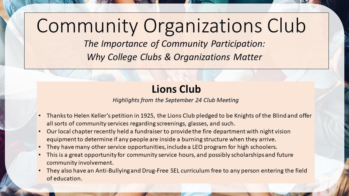 graphic - lions club