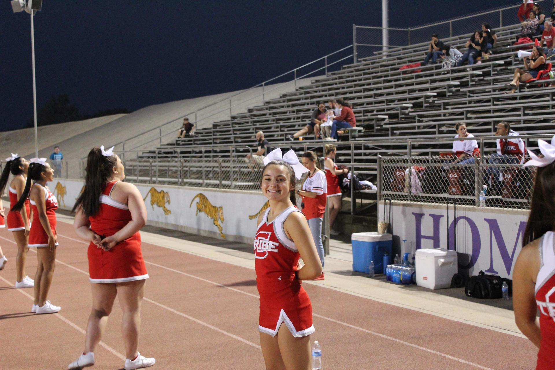 Cheerleaders at Lemoore