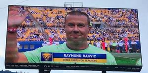 Mr. Rakvic on Video Board
