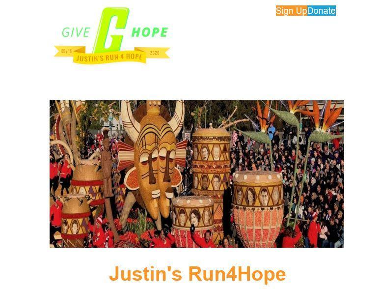 Justin's Run for Hope
