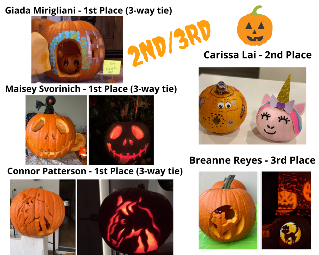 pumpkin carving contest winners 2nd 3rd