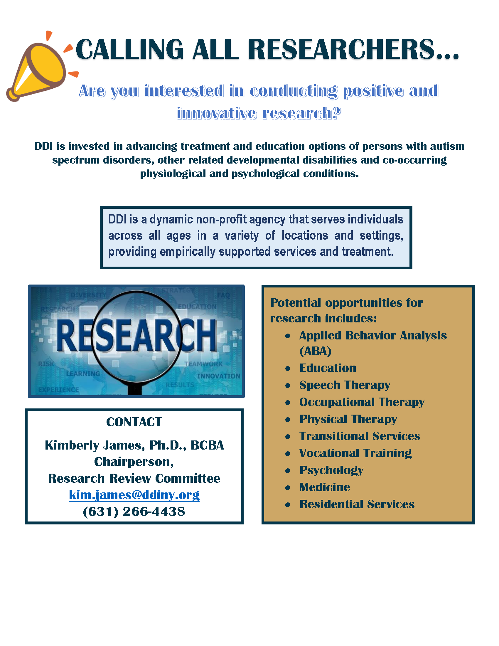 Research Interest Flyer