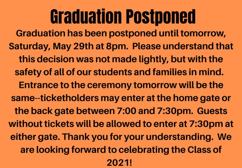 Graduation Postponed Thumbnail Image