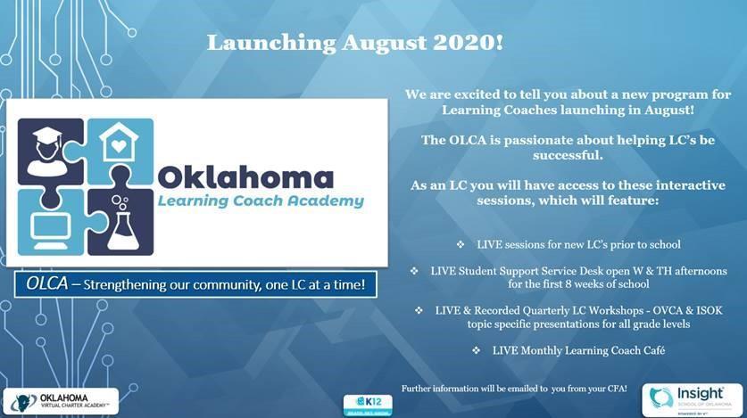Oklahoma Learning Coach University advertisement