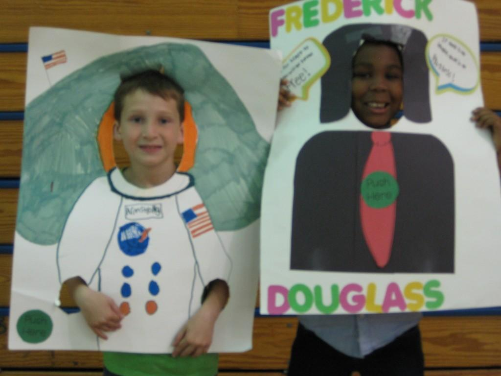 Wax Museum-Neil Armstrong and Frederick Douglass