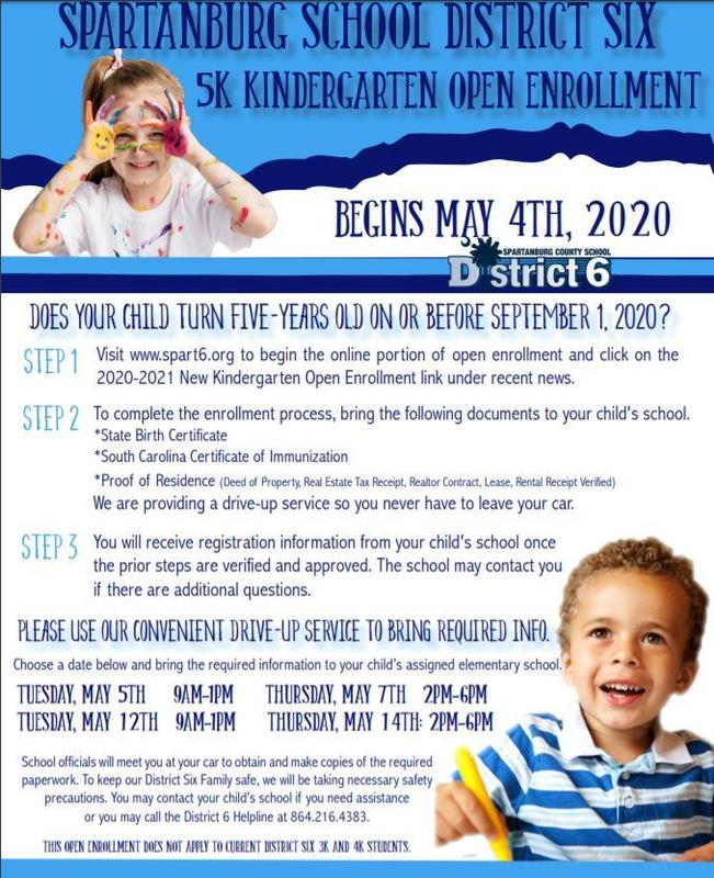 Kindergarten Registration flier
