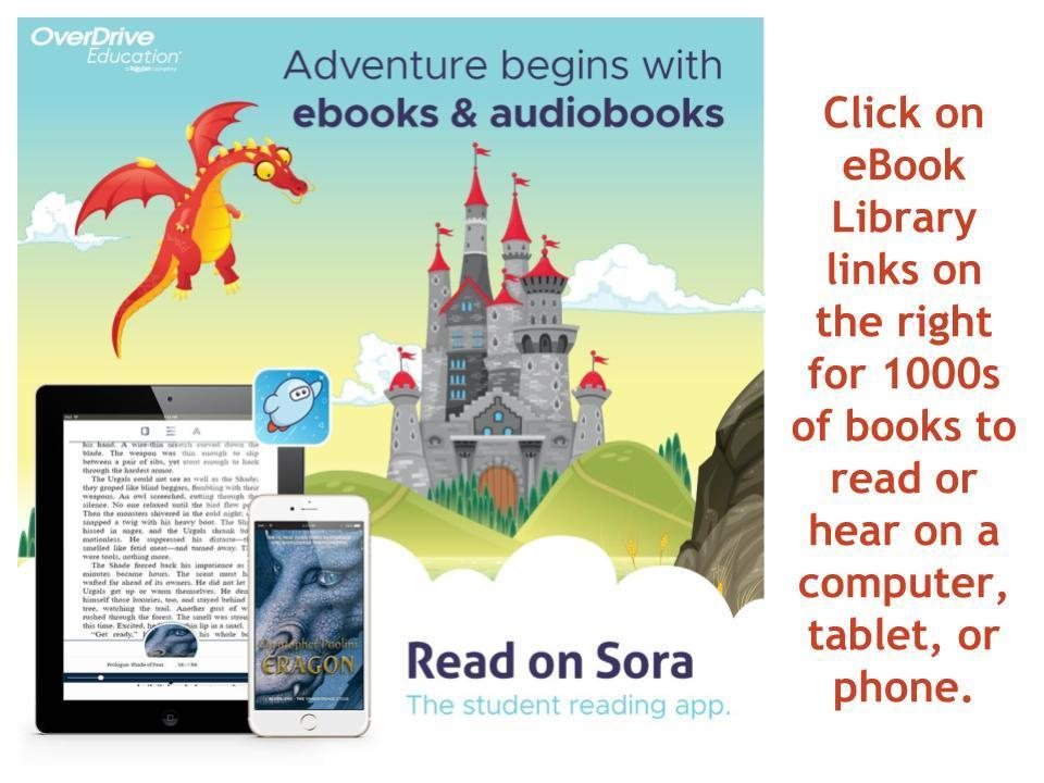 Adventure begins with eBooks and Audibooks from Sora.