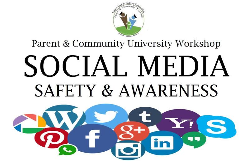 Social Media Safety and Awareness: A Parent & Community University Workshop on November 19 at Sweeney School. Free childcare provided. Thumbnail Image