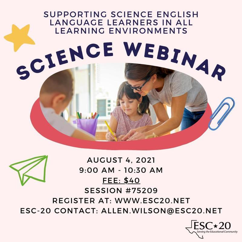 SCIECNE WEBINAR, August 4, 2021, 9:00 am -10:30 pm, Register now!